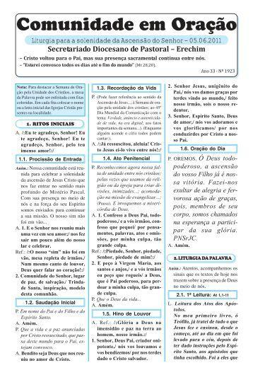 missas junho 2011.pmd - Diocese de Erexim