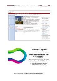 Lernportal myBTU Benutzerleitfaden für Studierende