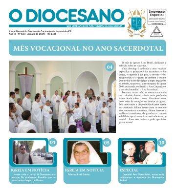 MÊS VOCACIONAL NO ANO SACERDOTAL - Diocese Cachoeiro
