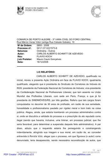COMARCA DE PORTO ALEGRE - 3ª VARA CÍVEL DO ... - creci-rs
