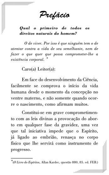 Aborto - Federação Espírita Brasileira