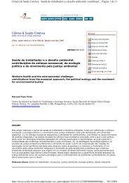 Saúde do trabalhador eo desafio ambiental - portal ergonomia no ...