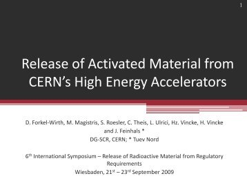 Release of Activated Material from CERNs High Energy