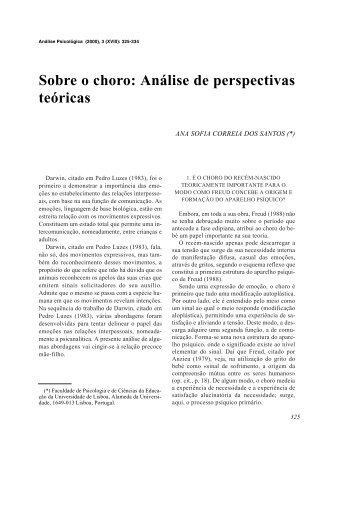 Sobre o choro: Análise de perspectivas teóricas - SciELO