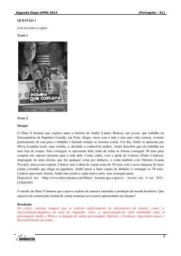 Português - semana 1 - Unimaster Pré-Vestibular