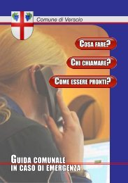 GUIDA COMUNALE IN CASO DI EMERGENZA - Comune di Verscio