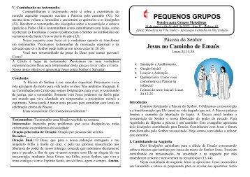 Roteiro para o Discipulado 2013 - 31/mar à 06/abr - Igreja Metodista ...