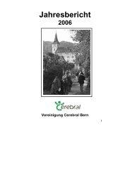 Jahresbericht 2006 - Vereinigung Cerebral