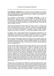 O Conceito de Aprendizagem Colaborativa A ... - ramses.ffalm.br
