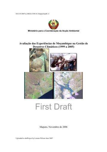 Avaliação das Experiências de Moçambique na Gestão de