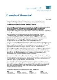 Pressedienst Wissenschaft - TUM