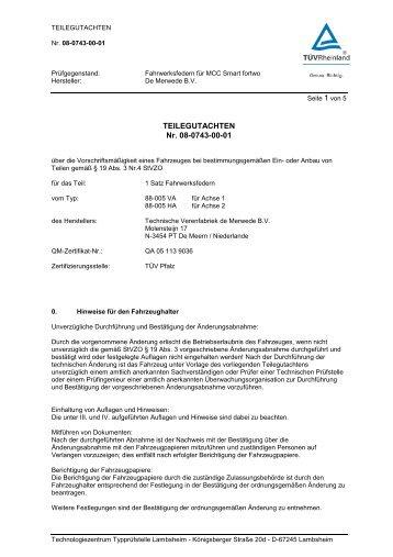 MCC Smart 451 fortwo 08-0743-00-01 -  TA-TECHNIX