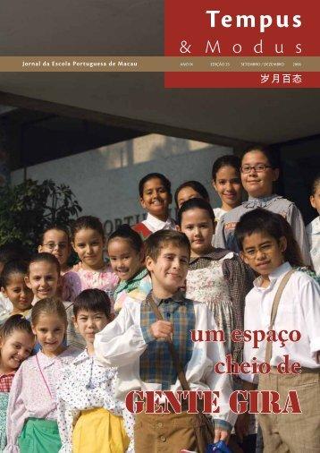 gente gira - Escola Portuguesa de Macau