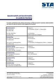 Geschirrverleih und Geschirrmobile im Landkreis Starnberg - Tutzing