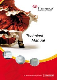 Flamenco - Technical Manual - Tunstall GmbH
