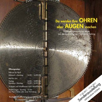 Ortsmuseum-Ohren-Augen - Tutzing
