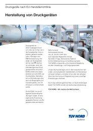 Herstellung von Druckgeräten - TÜV NORD Gruppe