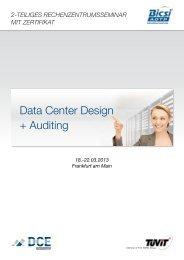 Data Center Design + Auditing - TÜViT