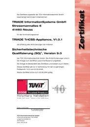 TRIADE InformationSystems GmbH Stresemannallee 6 ... - TÜViT