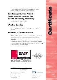 Bundesagentur für Arbeit Regensburger Straße 104 90478 ... - TÜViT