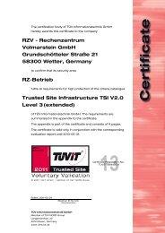 RZV - Rechenzentrum Volmarstein GmbH Grundschötteler ... - TÜViT
