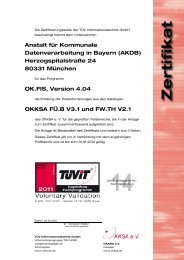Anstalt für Kommunale Datenverarbeitung in  Bayern (AKDB ... - TÜViT
