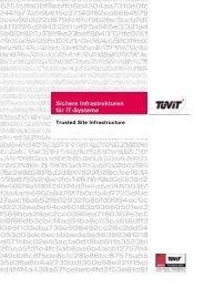 Sichere Infrastrukturen für IT-Systeme - TÜViT