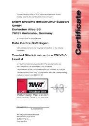 EnBW Systeme Infrastruktur Support GmbH Durlacher Allee ... - TÜViT