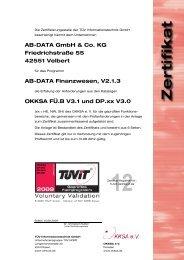 AB-DATA GmbH & Co. KG Friedrichstraße 55 42551 Velbert ... - TÜViT