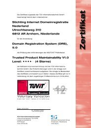Stichting Internet Domeinregistratie Nederland ... - TÜViT