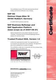 SAP AG Dietmar-Hopp-Allee 16 69190 Walldorf, Germany ... - TÜViT