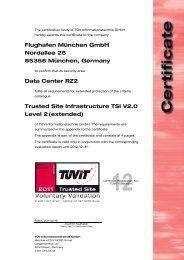 Flughafen München GmbH Nordallee 25 85356 München ... - TÜViT