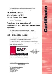 ITENOS GmbH Lievelingsweg 125 53119 Bonn, Germany ... - TÜViT