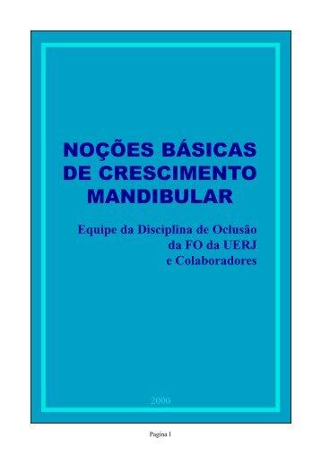 noções básicas de crescimento mandibular - Portal Saúde Brasil