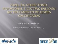Papel da aterectomia rotacional e cutting-balloon no - SBHCI