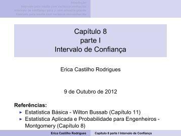 Capítulo 8 parte I Intervalo de Confiança - ICEB