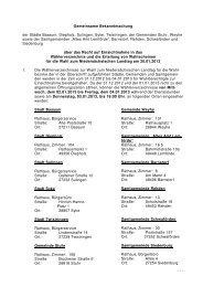 Einsichtnahme in das Wählerverzeichnis - Stadt Twistringen