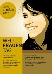 Flyer Weltfrauentag 2010 - Stadt Twistringen