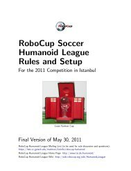 RoboCup Soccer Humanoid League Rules and Setup - TZI