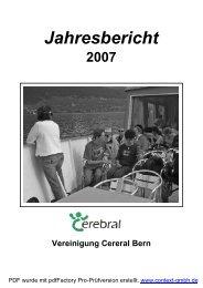 Jahresbericht 2007 - Vereinigung Cerebral