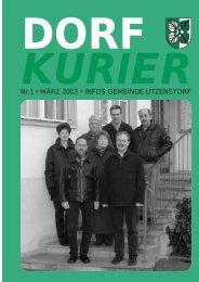 01/2003 - Gemeinde Utzenstorf