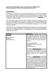 Musterwebimpressum für Heilpraktiker - Union Deutscher ...