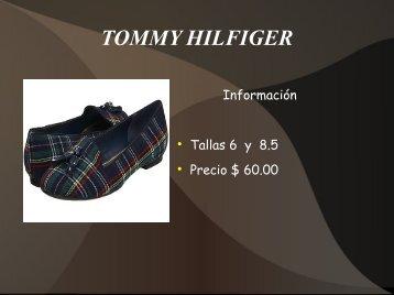 Catalogo zapatillas de Damas