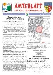 Bekanntmachung der Stadt Übach-Palenberg Bekanntmachung der ...