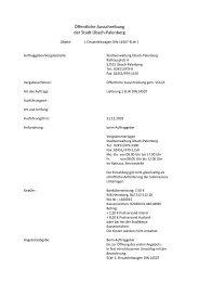 Öffentliche Ausschreibung Einsatzleitwagen DIN 14507-ELW 1