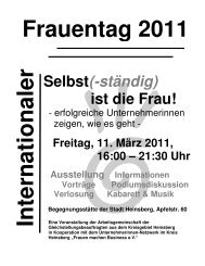 In tern atio n aler Frauentag 2011