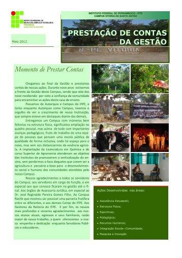 Prestação de Contas - Campus Vitória de Santo Antão - IFPE