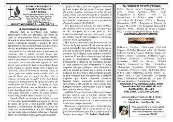 03/2/2013 - iii igreja evangélica congregacional de joão pessoa