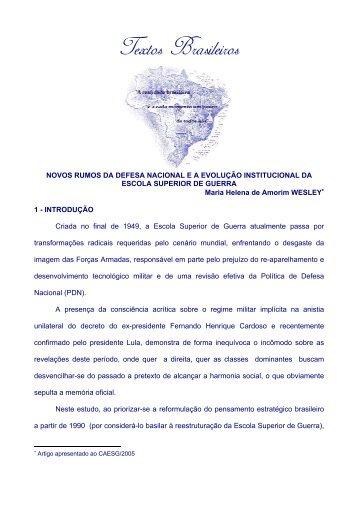 novos rumos da defesa nacional e a evolução ... - Brasil Brasileiro
