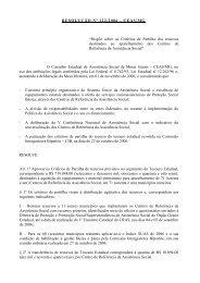 Resolução n 122 - Portal Conselhos MG
